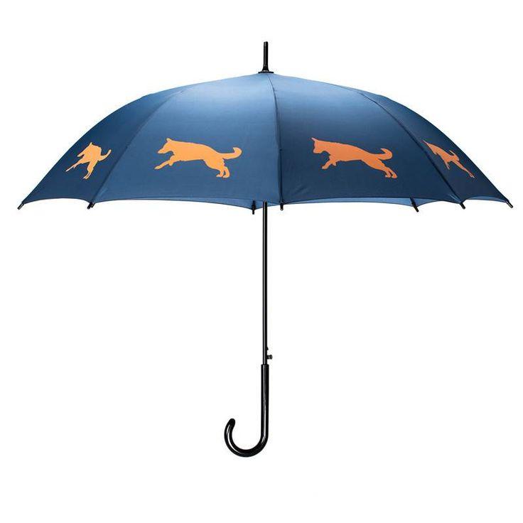 San Francisco Umbrella Animal Umbrella - German Shepherd - Blue/Orange