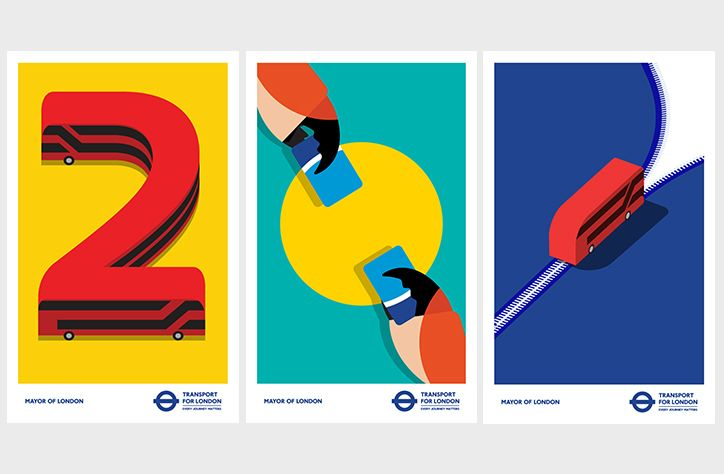 If you've been catching the London Underground recently you will have spotted Rob Bailey's striking illustrations for Transport for London. Rob's vivid drawings balance informative illustration with visually pleasing design, advising commuters and tourists day to day.
