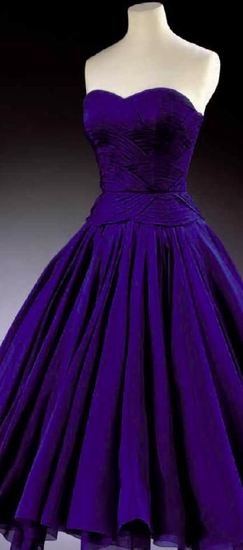 French navy 1950s vintage gown