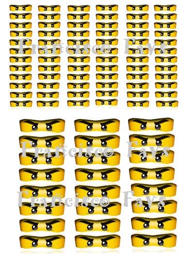 NINJAGO Birthday Party Eyes - DIY (Digital Copy). $2.00, via Etsy.