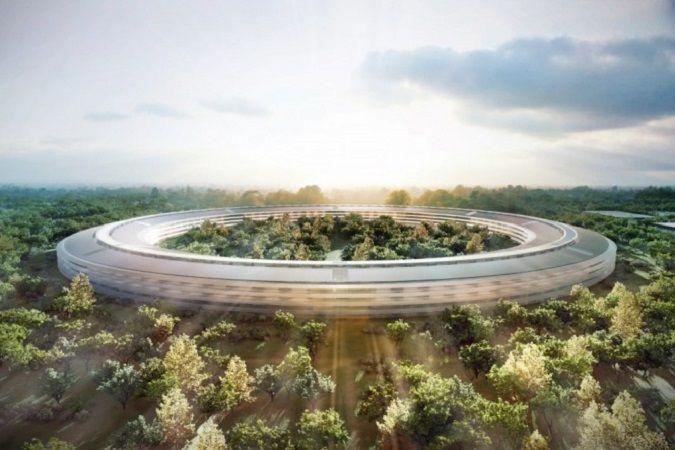 Rendering dell'Apple Space Campus a #Cupertino, futuro headquarter della multinazionale americana. #Apple