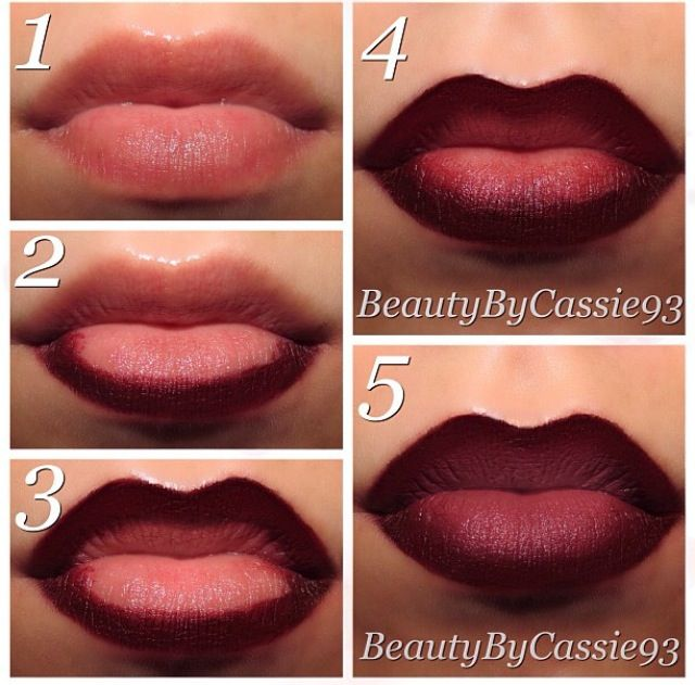 Ombre lips