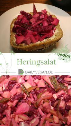 Dieser Brotsalat ist angelehnt an veganen Heringsalat, schmeckt toll auf Brot oder als Beilage.