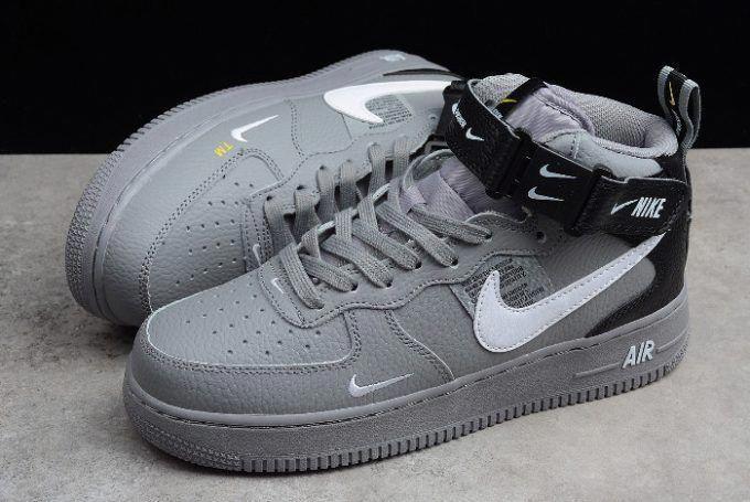 Buy Nike Air Force 1 Af1 Mid 07 Lv8 Wolf Grey White Black