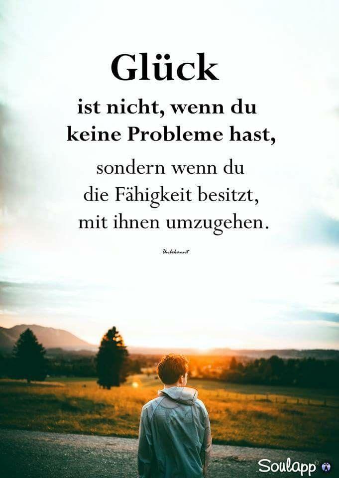 Glück Ist Nicht Wenn Du Keine Probleme Hast Sondern Wenn