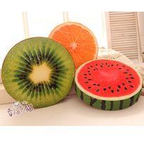 Darmowa wysyłka 1 kawałek arbuz kiwi pomarańczowy w kształcie owoców poduszki siedzenia poduszki(China (Mainland))