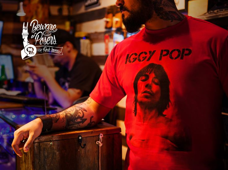 98FM: Iggy Pop Beware of posers. 98FM. For rock lovers.