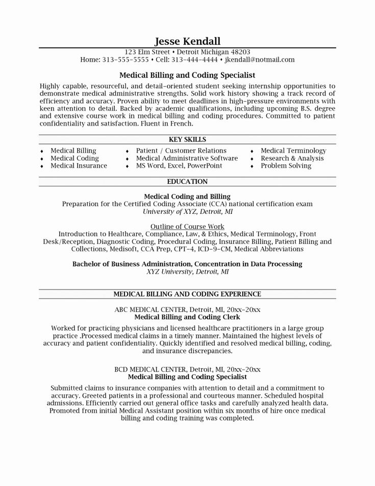 23 certified coding specialist resume example in 2020