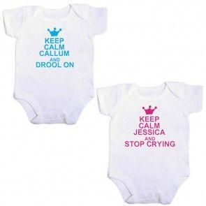 Keep Calm baby vest