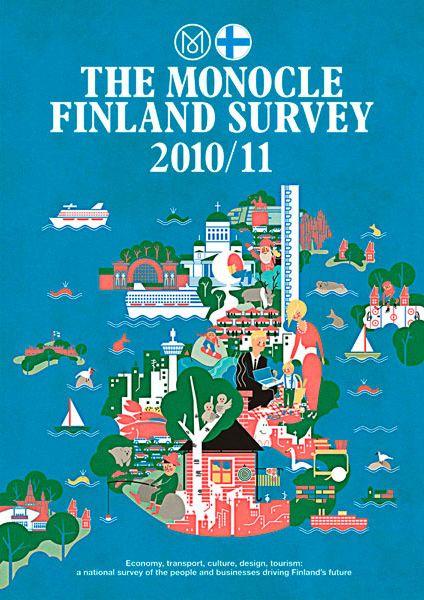 The Monocle Finland Survey 2010/11 / illustration by Vesa Sammalisto