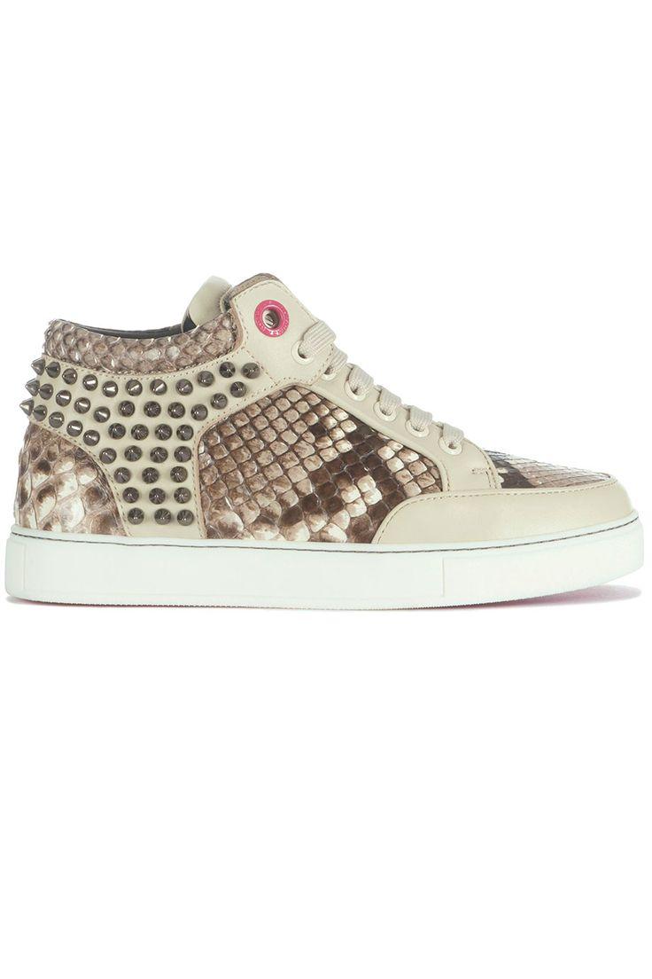 Hippe Royaums Kilian Python beige dames (beige) Dames sneakers van het merk royaums . Uitgevoerd in beige.