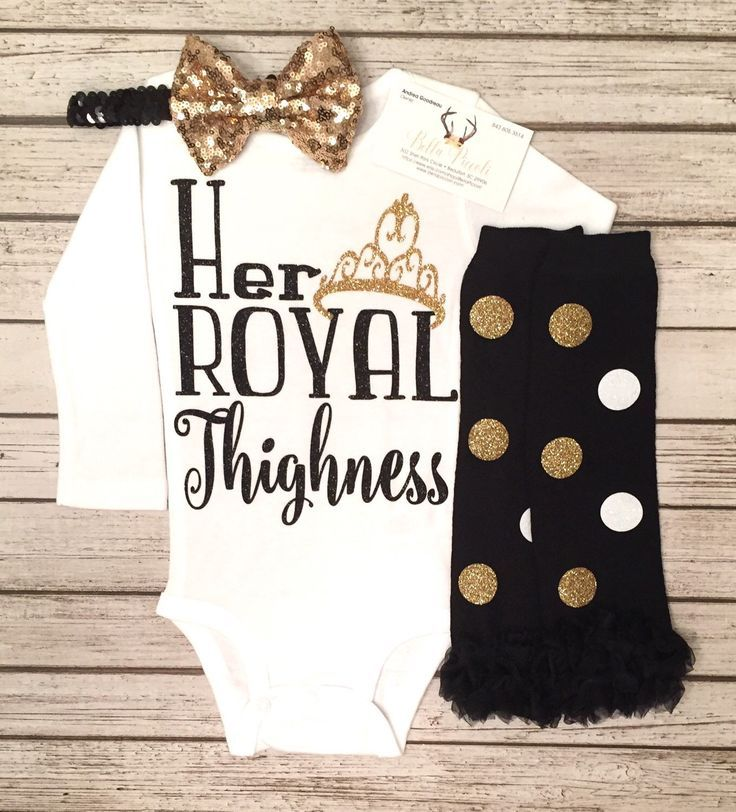 A personal favorite from my Etsy shop https://www.etsy.com/listing/504213533/baby-girl-clothes-her-royal-thighness