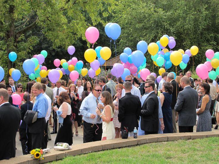 Pastel Balloon Release