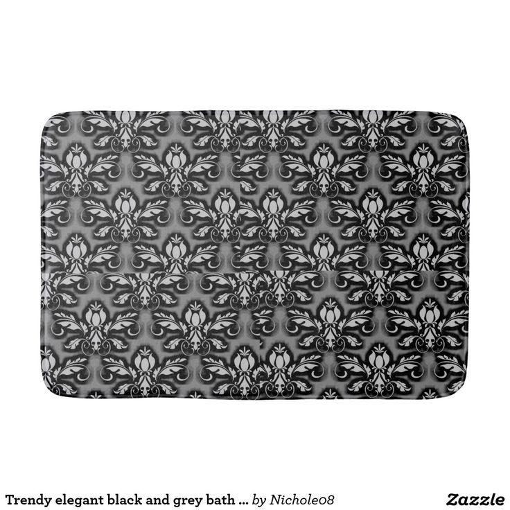 Trendy elegant black and grey bath mat design bath mats http://www.zazzle.com/trendy_elegant_black_and_grey_bath_mat_design_bath_mats-256070592853642423?rf=238588924226571373