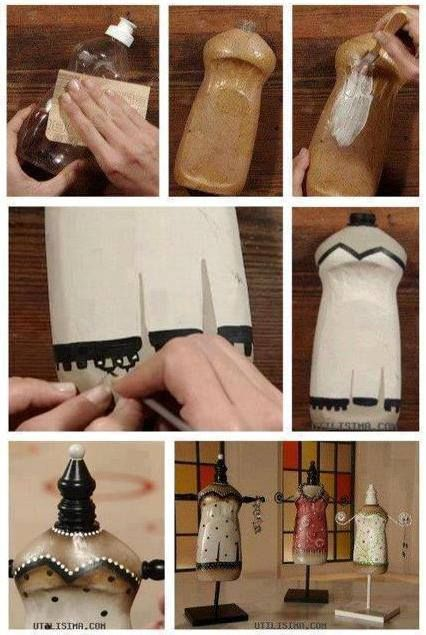DIY Dress Form Made Out Of A Recycled Plastic Bottle @guatesostensible