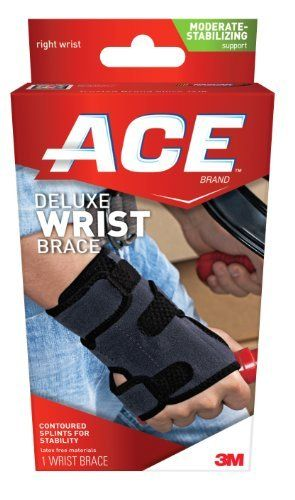 ACE Deluxe Wrist Brace, Right, Small/Medium by ACE. $11.88. Helps relieve carpal tunnel syndrome. Allows fingers to move freely. Neoprene blend material retains body heat for increased circulation.