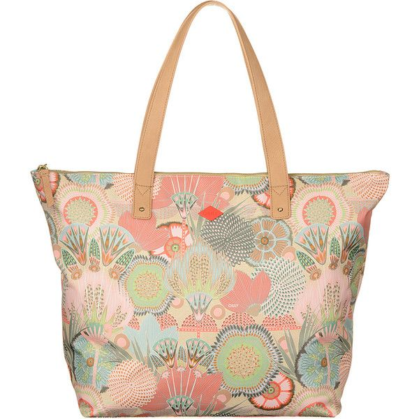 Oilily Beach Shopper Tote (4.005 RUB) ❤ liked on Polyvore featuring bags, handbags, tote bags, orange, zip top tote bag, orange tote bag, white beach tote, zippered tote and shopping tote