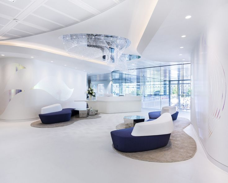 reception offices with curved walls - Google Search