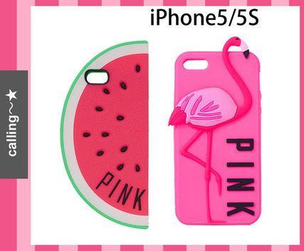 関税-送料込,即納!手元にあり!セレブ愛用 ☆ VS ☆ iPhone Case デザインはスイカとフラミンゴの2種類♪ どちらのケースにもビクトリアシークレットのセカンドブランド名「PINK」のレタリング入り☆