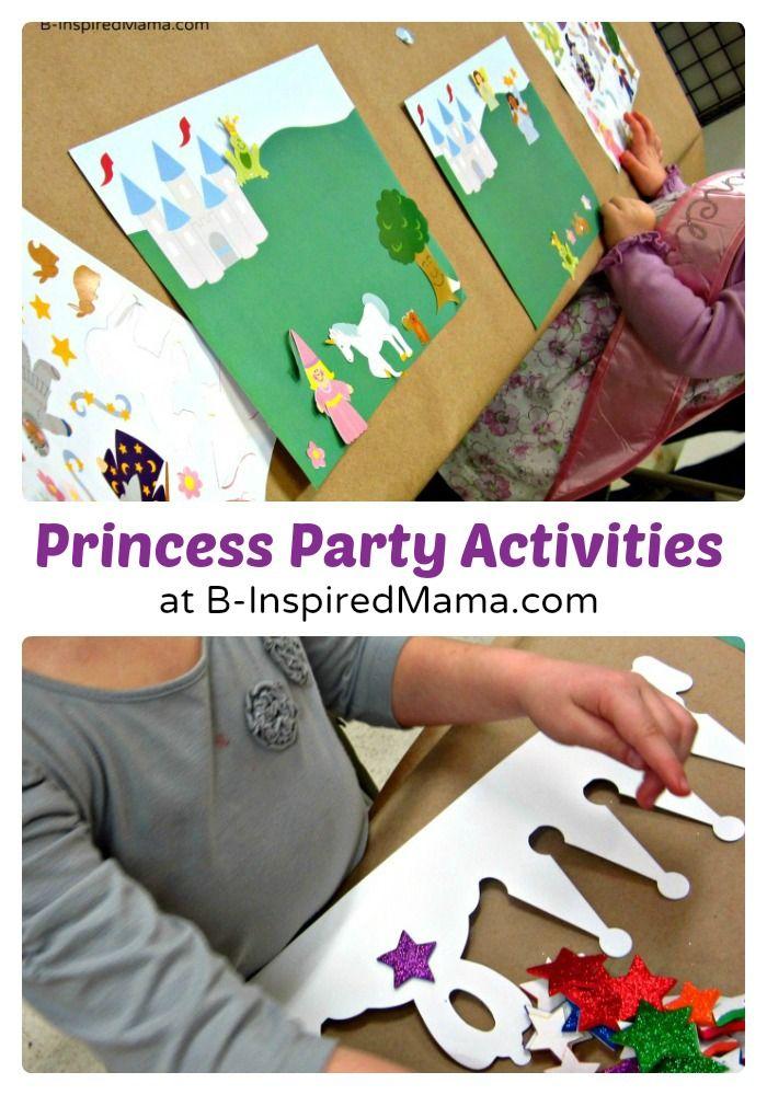 #Crafts and Activities at Priscilla's Happy #Birthday #Princess Party at B-InspiredMama.com