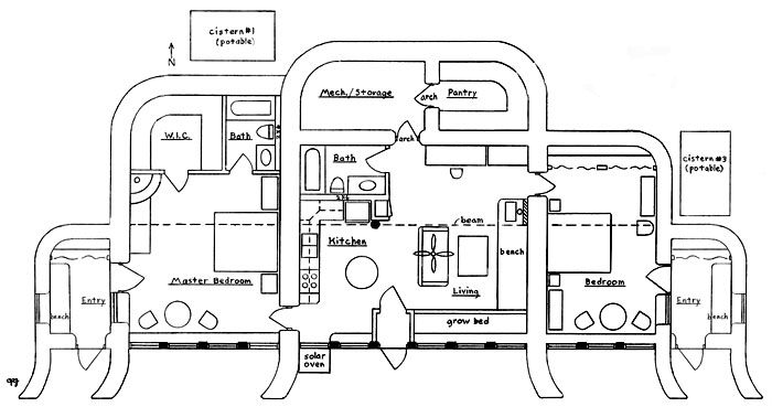 25 best ideas about underground house plans on pinterest for Earth sheltered homes plans
