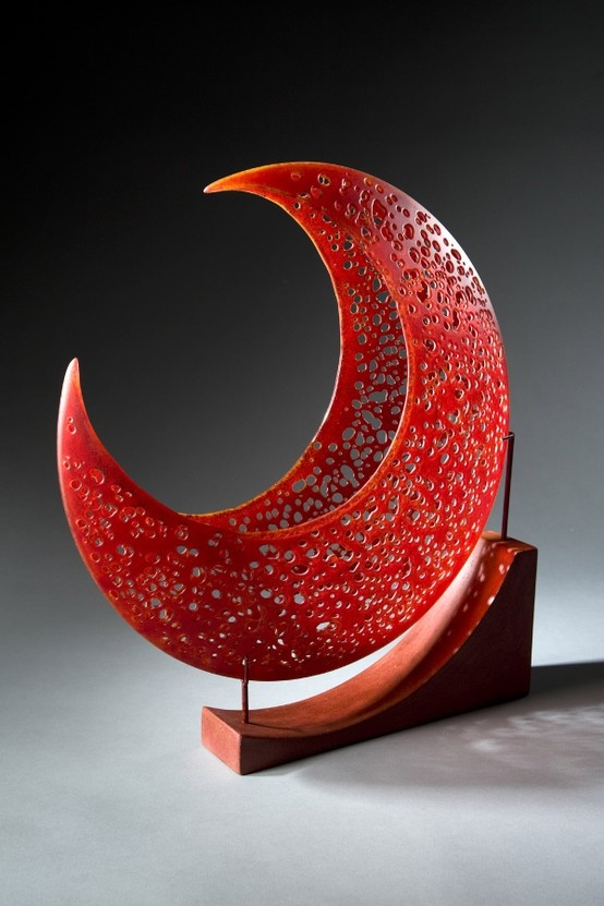 Exploring the limit of kiln formed glass, Karen Bexfield creates original sculptures that engage the viewer. Her sculptures are delicate in appearance but strong in form. The interplay of color, shape and movement speaks to the raw yet purposeful unpredictability of nature and the glass process itself. Karen Bexfield's Exhibition will run April 17 to April 30th. Meet the artist 5-7PM Friday, April 17th.