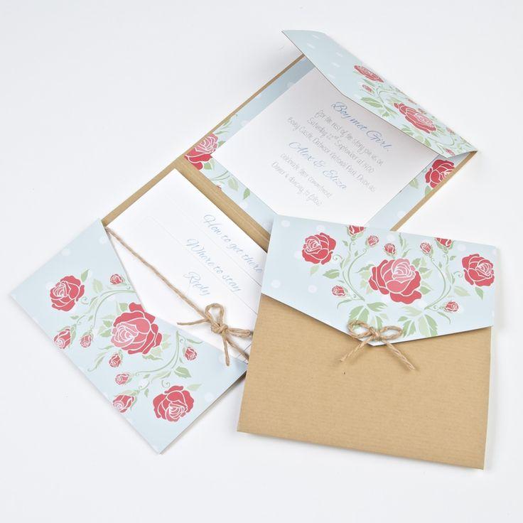 Bow Peep Pocketfold Wedding Invite DIY