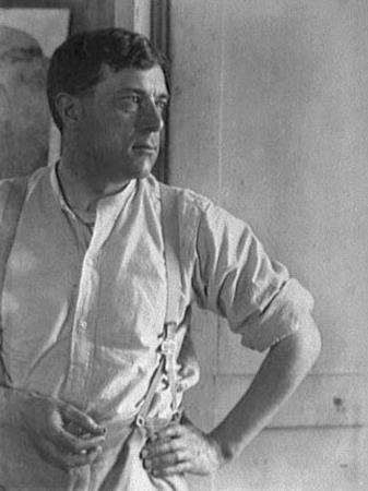 George Braque in atelier, 1922, by Man Ray