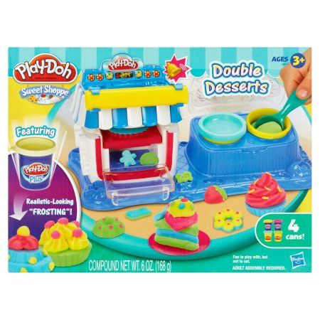 Hasbro Play-Doh Sweet Shoppe Double Desserts Ages 3+ 6 oz., Multicolor