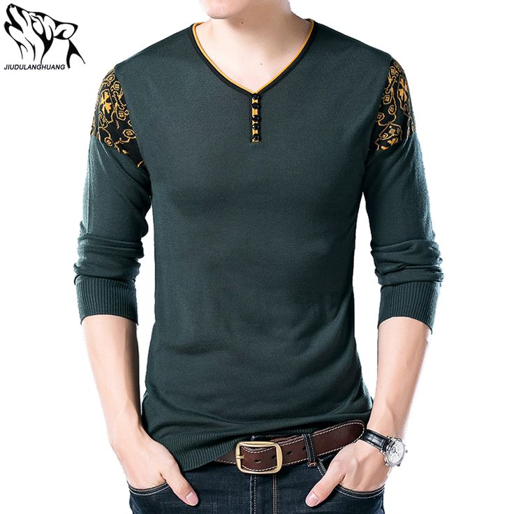 Sueter Masculino Casual 2017 Autumn New Men's V-neck Sweater Tide Wild Men's Pullover Sweaters Strickereien Men #Affiliate