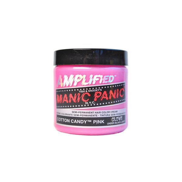 Manic Panic cotton candy pink dye - hair dyes - Manic Panic pink UK ($17) ❤ liked on Polyvore featuring beauty products, haircare, fillers, makeup, hair, beauty, hair dye and manic panic
