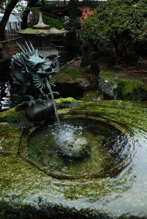 A pool among the rock, gardens of Himeji Castle, Japan (by Mark Liddell).