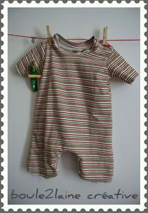 Patron et tuto: une combinaison dans du jersey ou un Tshirt recyclé    Pattern and tutorial A romper made with recycled Tshirt