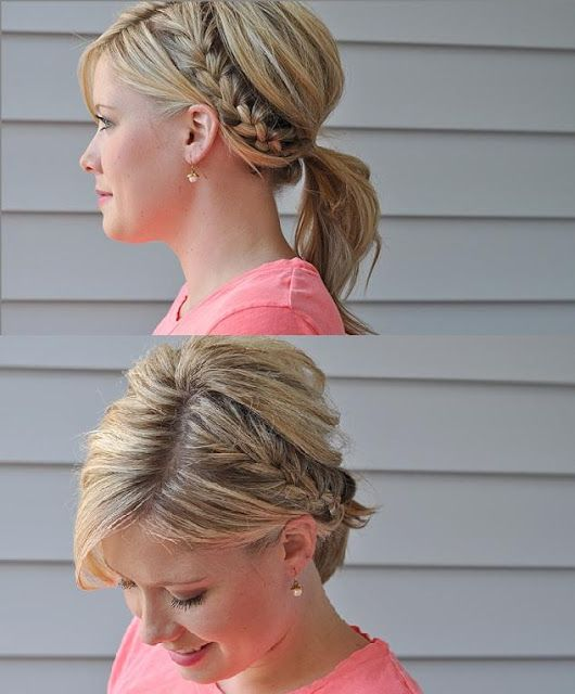 Wondrous 1000 Ideas About French Braided Ponytail On Pinterest Braid Hairstyle Inspiration Daily Dogsangcom