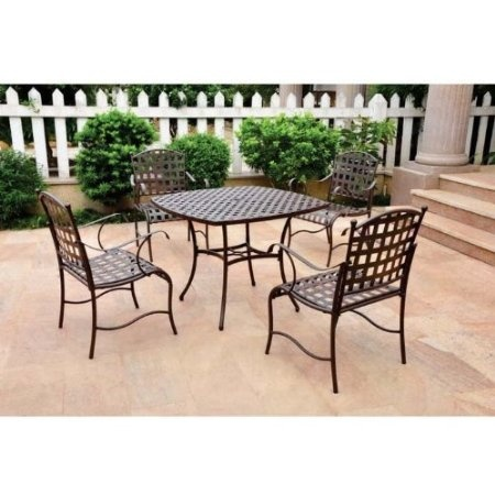 $450 For 5 Piece Set Amazon.com: Santa Fe Nailhead Iron 5 . Iron  FurniturePatio ...