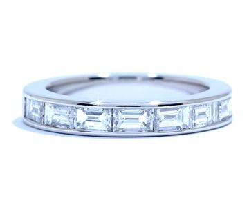 Superb Baguette channel set diamond eternity band by Ascot Diamonds ascotdiamonds