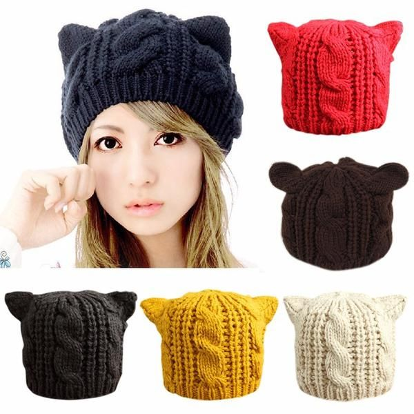 Fashion  Winter wool Cat Ear Hat Beanie