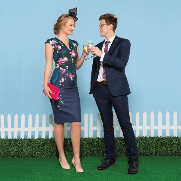 Ted Baker has his and hers Race Day outfits sorted for a stylish day at the track.