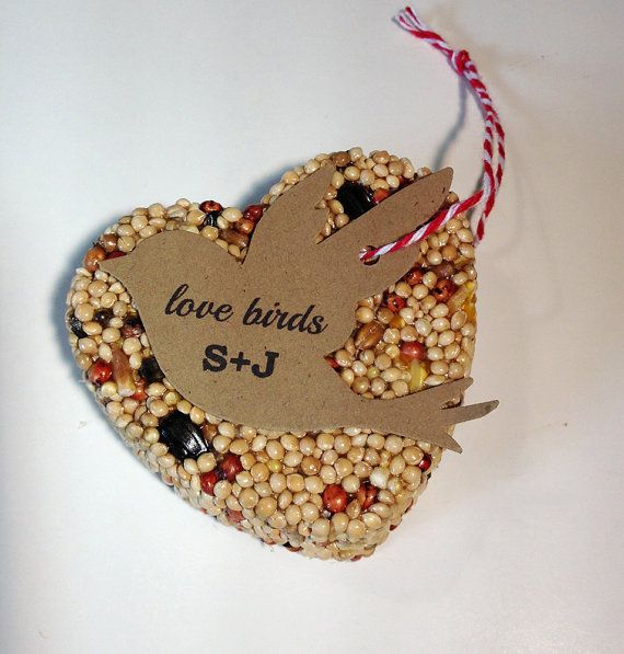 30 Bird Seed Heart Shaped Favors  Bird shaped by VintageBlooming