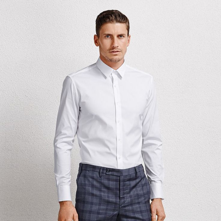 Orlando White Men's Business Shirt #shirt #mensshirt #longsleeveshirt #formalshirt #tailored #menswear