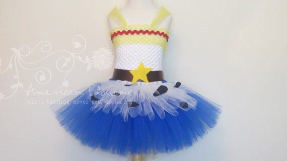 Tutu Dress Jessie Halloween Cowgirl Costume Toy Story Inspired by American Blossoms