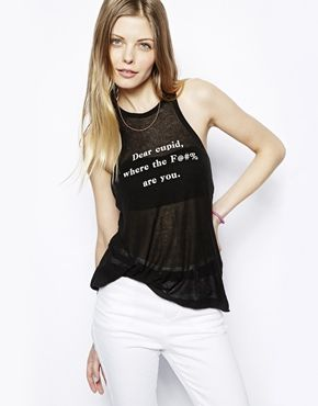 Wildfox Cupid Vest - now that's what I'm saying...