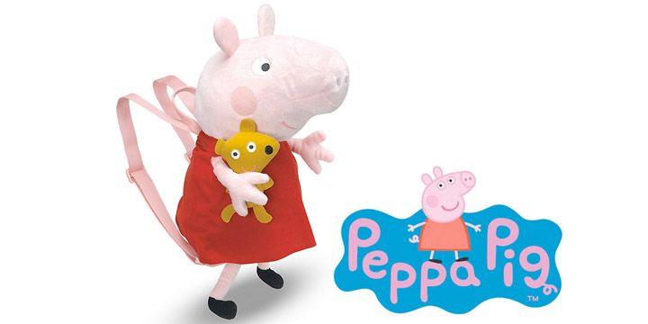 Peluche mochila Peppa Pig. AHORRO 15%. 26.20€. #ofertas #descuentos