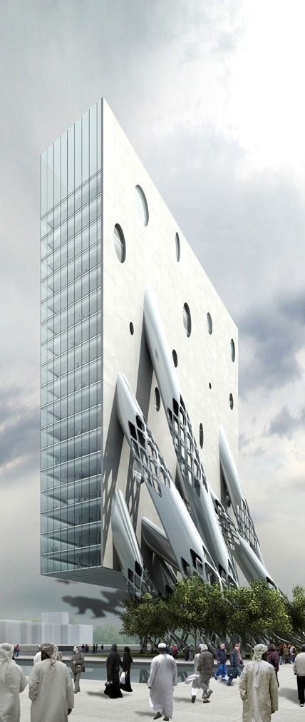 Al Rostamini Headquarters, Dubai, UAE by MAD Architects :: proposal