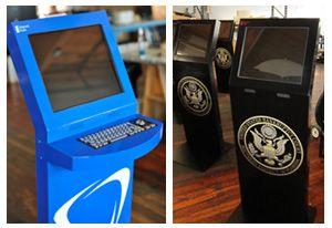 Freestanding Kiosks used as information kiosks #governmentkiosks #freestandingkiosks #churchkiosks #informationkiosks
