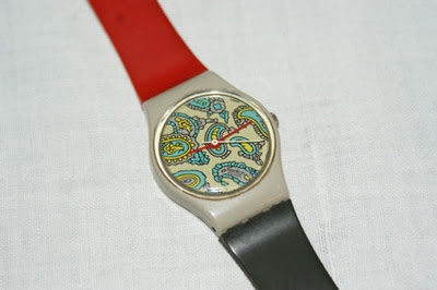 My Swatch Watch circa 1984.  I loved the paisley design.