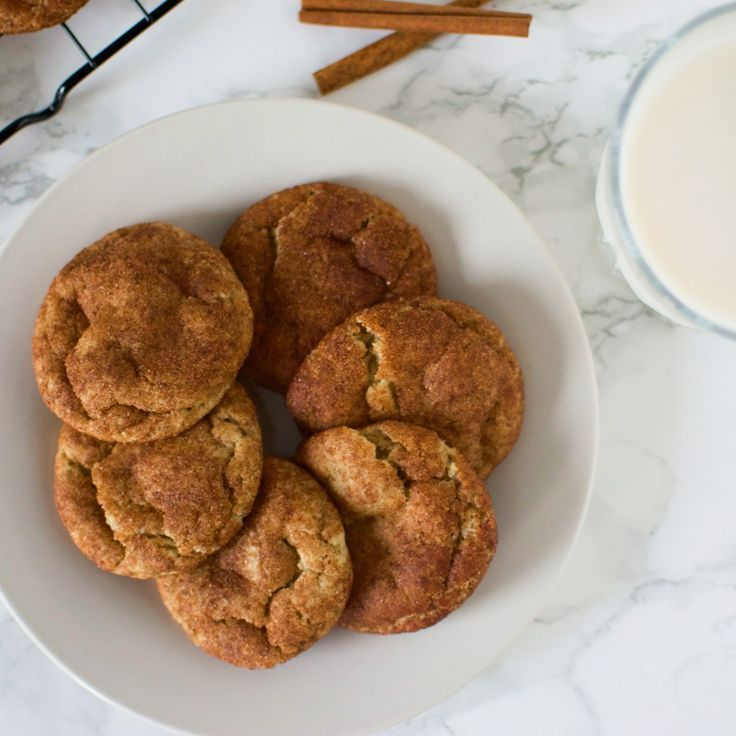 Soft + Chewy Vegan Snickerdoodle Cookies