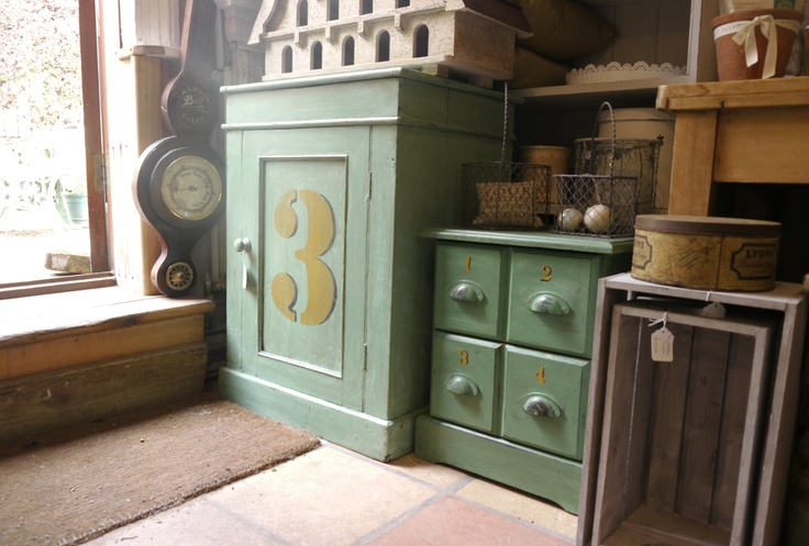 Green painted furniture, La Maison