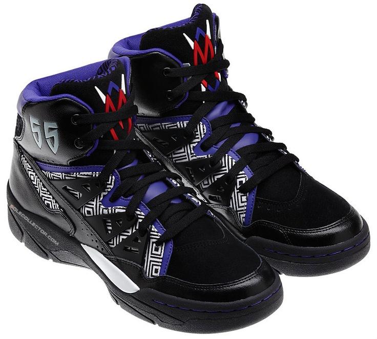 adidas Mutombo Black/WhitePurple Swag shoes, Nike shoes