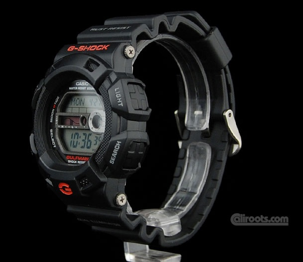 G-Shock Gulfman rust resistant. I love g-shocks, they are cool watches
